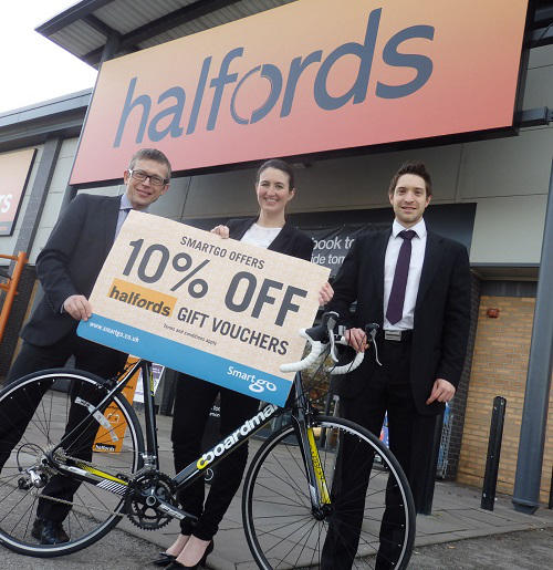 Halfords offers 10% discount to members of Smartgo Travel Networks